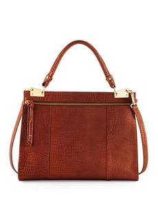 Foley + Corinna Dione Crocodile-Embossed Satchel Bag