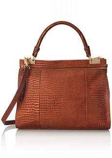 Foley + Corinna Dione Messenger Top Handle Bag, Cognac Crocodile, One Size
