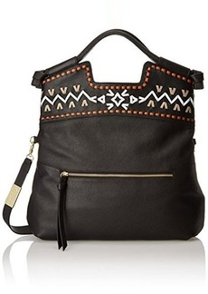 Foley + Corinna Embellished Weave Mid City Top Handle Bag