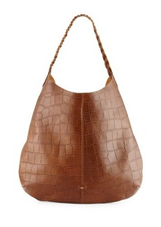 Foley + Corinna Farrah Crocodile-Embossed Leather Hobo Bag
