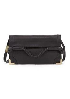Foley + Corinna Flap Leather Crossbody Bag, Black