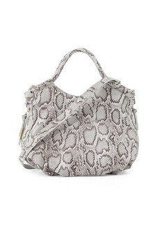 Foley + Corinna Fleetwood Snake-Embossed Leather Satchel Bag