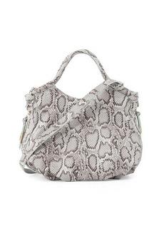 Foley + Corinna Fleetwood Snake-Embossed Leather Satchel Bag
