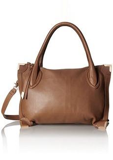 Foley + Corinna Frame Satchel Bag, Chestnut, One Size