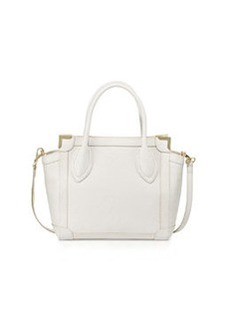 Foley + Corinna Framed Embossed-Leather Mini Shopper Bag, Shell