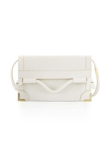 Foley + Corinna Framed Fold-Over Embossed Leather Crossbody Bag