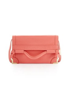 Foley + Corinna Framed Fold-Over Leather Crossbody Bag