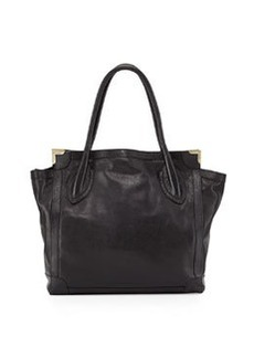 Foley + Corinna Framed Large Leather Shopper Bag, Black