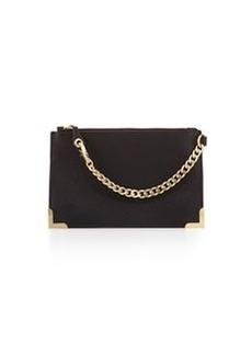 Foley + Corinna Framed Leather Wristlet, Black