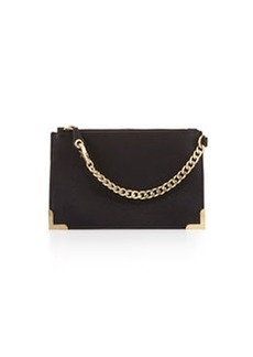 Foley + Corinna Framed Leather Wristlet, Black
