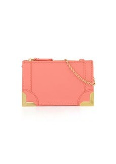Foley + Corinna Framed Petite Leather Crossbody Bag, Coral
