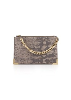 Foley + Corinna Framed Printed-Leather Wristlet