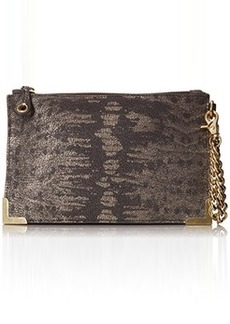 Foley + Corinna Framed Wristlet Clutch, Metallic Lizard, One Size