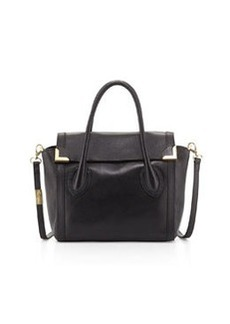 Foley + Corinna Frances Medium Leather Satchel, Black
