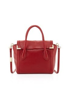 Foley + Corinna Frances Medium Leather Satchel, Red