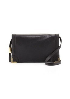 Foley + Corinna Frances Small Leather Crossbody Bag, Blac