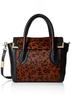 Foley + Corinna Frankie Flap Satchel Top Handle Bag, Leopard Hair Calf, One Size