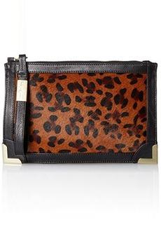 Foley + Corinna Frankie Wristlet Clutch, Leopard Hair Calf, One Size