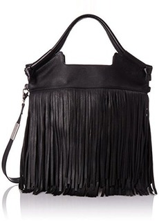Foley + Corinna Fringed City Cross Body Bag, Black, One Size