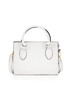 Foley + Corinna Gabby Knot Leather Crossbody Bag, White