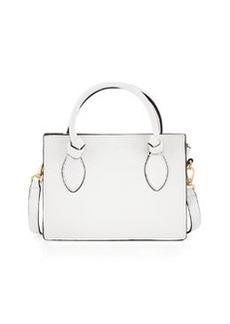 Foley + Corinna Gabby Knot Leather Crossbody Bag, White
