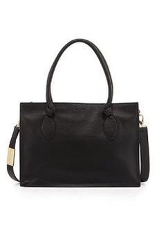 Foley + Corinna Gabby Knot Leather Satchel Bag, Black