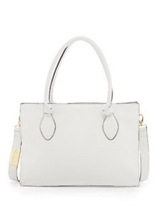 Foley + Corinna Gabby Knot Leather Satchel Bag, White
