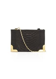 Foley + Corinna Genesis Snake-Embossed Leather Crossbody Bag