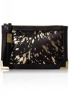 Foley + Corinna Genesis Wristlet Clutch, Gold Flecked Haircalf, One Size