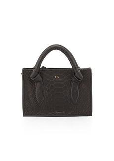 Foley + Corinna Gigi Snake-Embossed Leather Petite Crossbody Bag