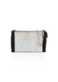 Foley + Corinna Jackson Speckled Leather Crossbody Bag, Black/Combo