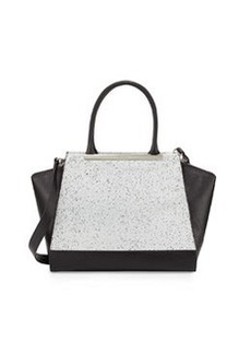 Foley + Corinna Jackson Speckled Structured Leather Tote Bag, Black/Speckle