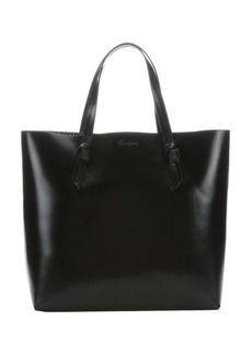 Foley + Corinna jet black leather 'Emerald' large top handle tote