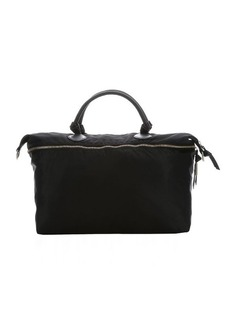 Foley + Corinna jet black leather trimmed nylon 'Marquise' weekender bag