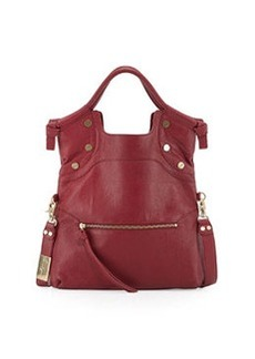 Foley + Corinna Lady Medium Foldover Satchel Bag, Cranberry