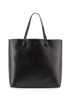 Foley + Corinna Large Leather Knot Tote Bag, Black