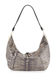 Foley + Corinna Lilou Lizard-Embossed Leather Slouchy Hobo Bag