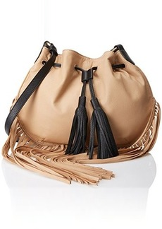Foley + Corinna Luna Fringed Cross Body Bag, Biscuit Combo, One Size