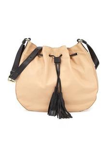 Foley + Corinna Lunda Colorblock Leather Drawstring Hobo Bag