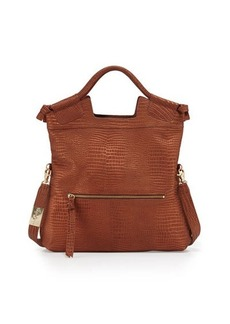Foley + Corinna Mid City Crocodile-Embossed Leather Tote Bag