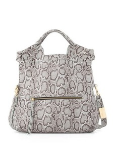 Foley + Corinna Mid City Snake-Embossed Leather Tote Bag