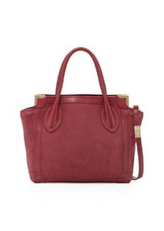 Foley + Corinna Mini Framed Leather Shopper, Cranberry