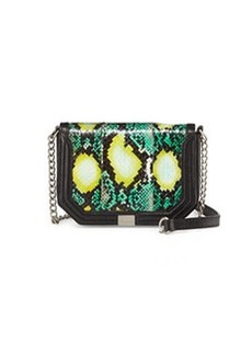 Foley + Corinna Mini Snake Crossbody Bag, Black/Island