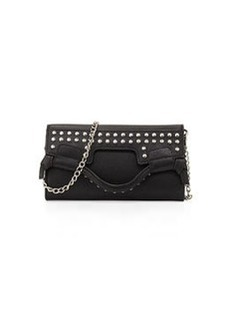 Foley + Corinna Moto Fold-Over Crossbody Wallet, Black