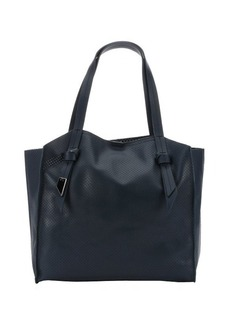 Foley + Corinna navy blue perforated leather 'Tye' tote
