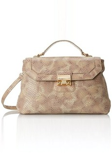Foley + Corinna Nicolette Top Handle Bag, Camel Python, One Size