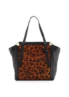 Foley + Corinna Portrait Calf-Hair Shopper Tote Bag