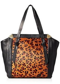 Foley + Corinna Portrait Shopper Travel Tote, Leopard Hair Calf, One Size