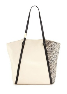Foley + Corinna Ramble Snake-Embossed Leather Tote