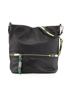 Foley + Corinna Rider Pebbled Leather Hobo Bag